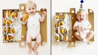 Photo of Мама зафіксувала перший рік сина на фото з бургерами: неймовірна ідея у фото