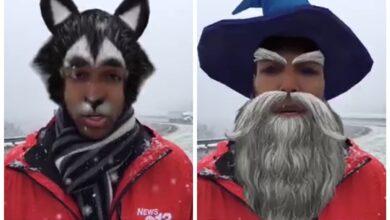 Photo of Журналіст вийшов в ефір у смішних масках Facebook: курйозне відео