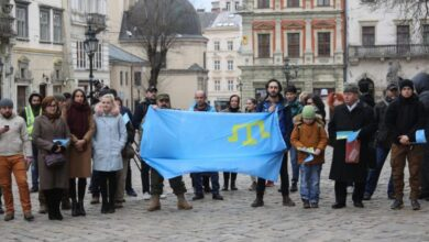 Photo of «Крим– цеУкраїна!». Львів'яни провели акцію-протест