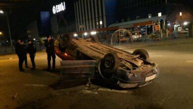 Photo of У Львові п'яний водій втікав від патрульних та перекинувся на дах