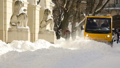 Photo of Снігопад у Львові: на дорогах працювало 40 одиниць техніки