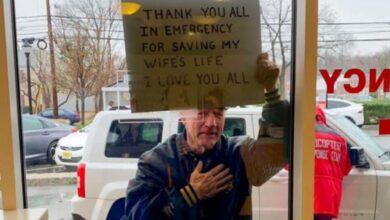 Photo of Чоловік зворушливо подякував медикам, які врятували його дружину від коронавірусу: фото