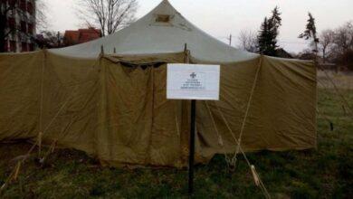 Photo of У Львівській області встановили намети для людей з підозрою на коронавірус