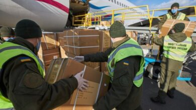 """Photo of У """"Бориспіль"""" прибув літак з Китаю з новою партією тестів на коронавірус"""
