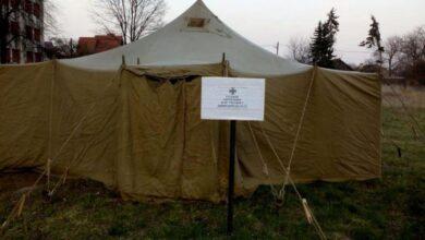 Photo of На Львівщині облаштували десять наметів для сортування хворих на коронавірус