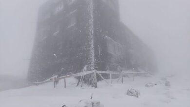 Photo of На горі Піп Іван у Карпатах випало 15 см снігу