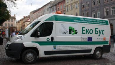 Photo of Куди львів'янам приносити використані лампи і батарейки у червні? Графік стоянок екобуса