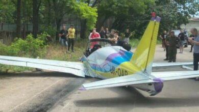 Photo of Перше фото з місця падіння літака в Одесі