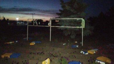 Photo of У Станиці Луганській зруйнували знак Україна