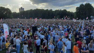 Photo of У Мінську 63 тис. білорусів вийшли на опозиційний мітинг