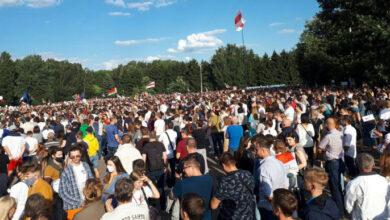 Photo of У Мінську понад 63 тисячі людей вийшли на мітинг