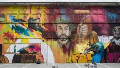 Photo of У Львові на стіні старого ремонтного цеху намалювали 80-метрове графіті