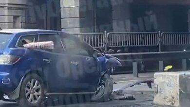 Photo of У Києві Mazda влетіла у міст, є постраждалі