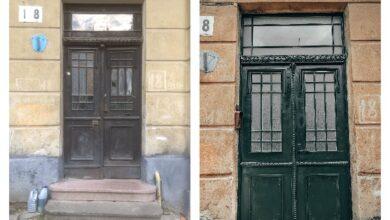 Photo of Було – стало. У будинку на вулиці Лісній відновили історичну металеву браму