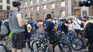 Photo of Велосипедисти перекрили рух Хрещатиком