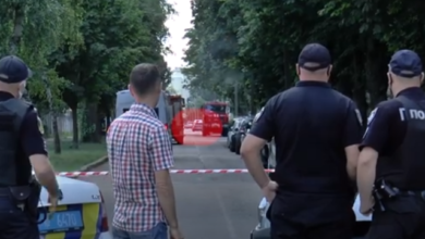 Photo of З'явилося відео, як авто із заручником у Полтаві залишає зону оточення
