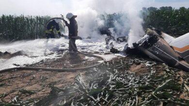 Photo of Під Києвом впав і загорівся літак – перші фото