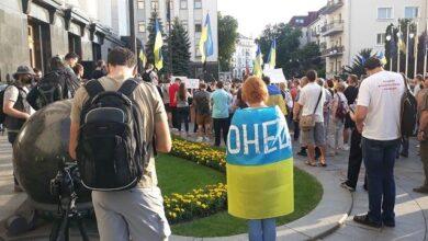 Photo of Мітинг на підтримку армії під ОП: прийшов батько загиблого воїна Журавля