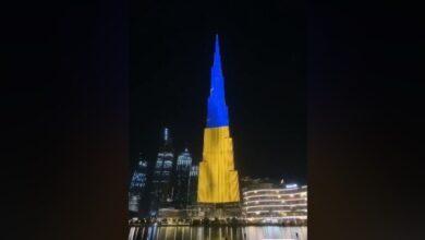 Photo of Найвищий хмарочос у світі підсвітили кольорами українського прапора