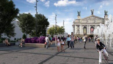 Photo of Сухий фонтан навпроти Львівської опери обіцяють облаштувати до кінця вересня
