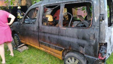 Photo of У Бродах під час пожежі в гаражі вщент згорів автомобіль