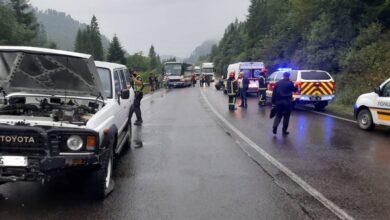 Photo of На Сколівщині в ДТП потрапили відразу три автівки та автобус. Є травмовані