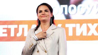 Photo of Продовжуємо боротьбу: Тихановська закликала білорусів виходити на Марш героїв