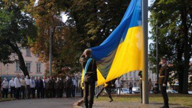 Photo of У Львові урочисто підняли Державний прапор України