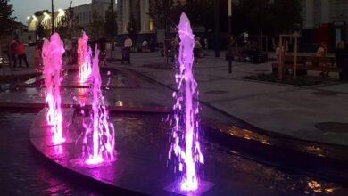 Photo of Новий фонтан біля Головного залізничного вокзалу забився