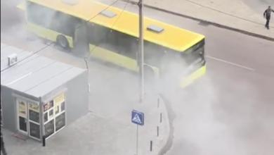 Photo of У Львові загорівся автобус №6А