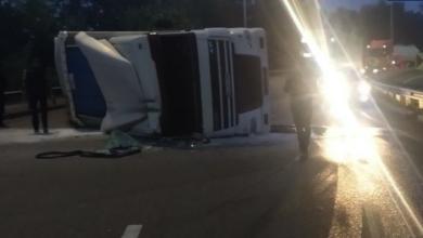 Photo of У Києві перекинулася вантажівка: у місті утворилися затори (КАРТА)