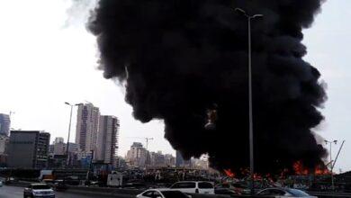 Photo of У порту Бейрута масштабна пожежа