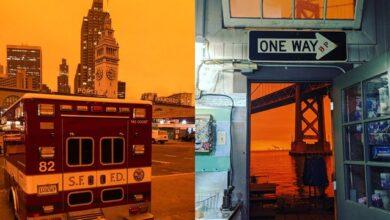 Photo of Помаранчеве сяйво і багато диму: фото окутаного пожежами Сан-Франциско