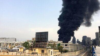 Photo of Перше відео пожежі в порту Бейрута