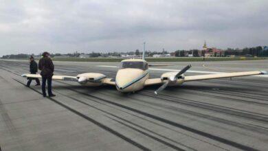 Photo of У Львові літак викотився за межі злітної смуги