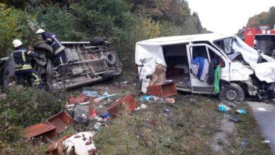 Photo of На Львівщині зіткнулись та перекинулись два мікроавтобуси