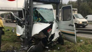 Photo of Підрізав легковик: під Києвом мікроавтобус потрапив у ДТП, 10 потерпілих